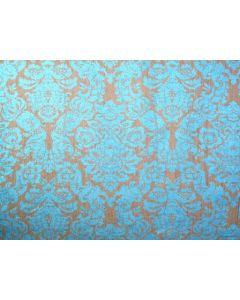 Budapest Linen Damask Color : Turquoise Width : 54