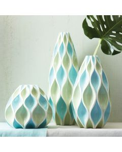 Blue Waves Vase Med