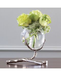 Twig Vase Holder/Nickel